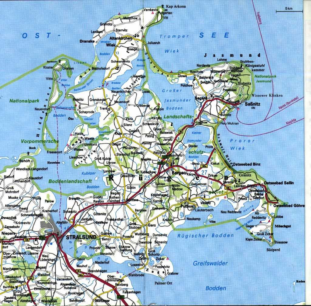 Karta Over Rugen Tyskland Karta 2020
